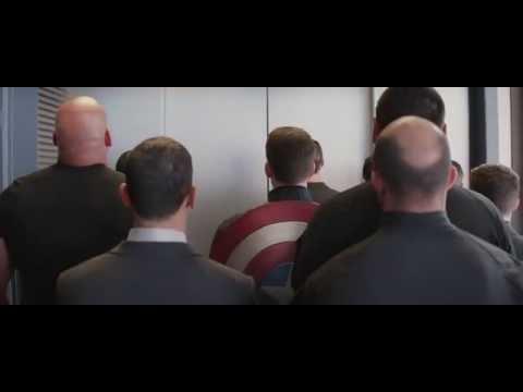 Captain America The Winter Soldier Elevator Scene HD
