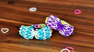 How To Make A Bow With ONE Rainbow Loom (Original Tutorial