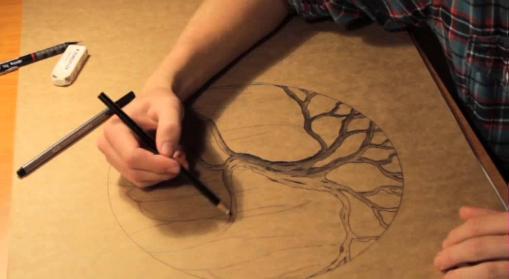 tree of life drawing youtube. Black Bedroom Furniture Sets. Home Design Ideas