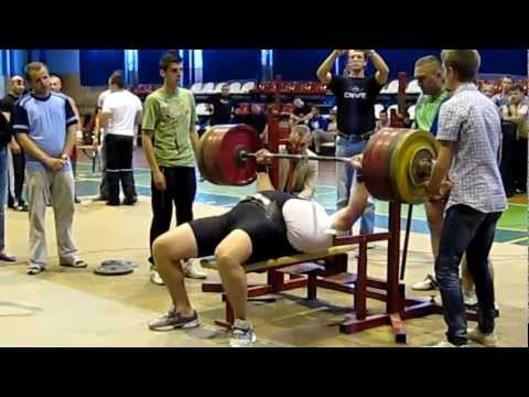 Жим лежа 255 кг без майки Жеребак Євген