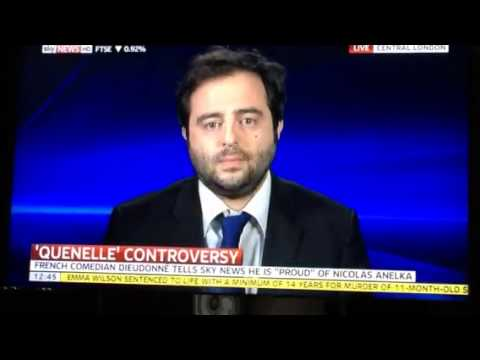 Richard Ferrer on Sky News discussing the channel's Dieudon