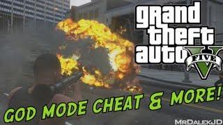 GTA 5 Cheats INVINCIBILITY, ALL Weapons, Super Jump