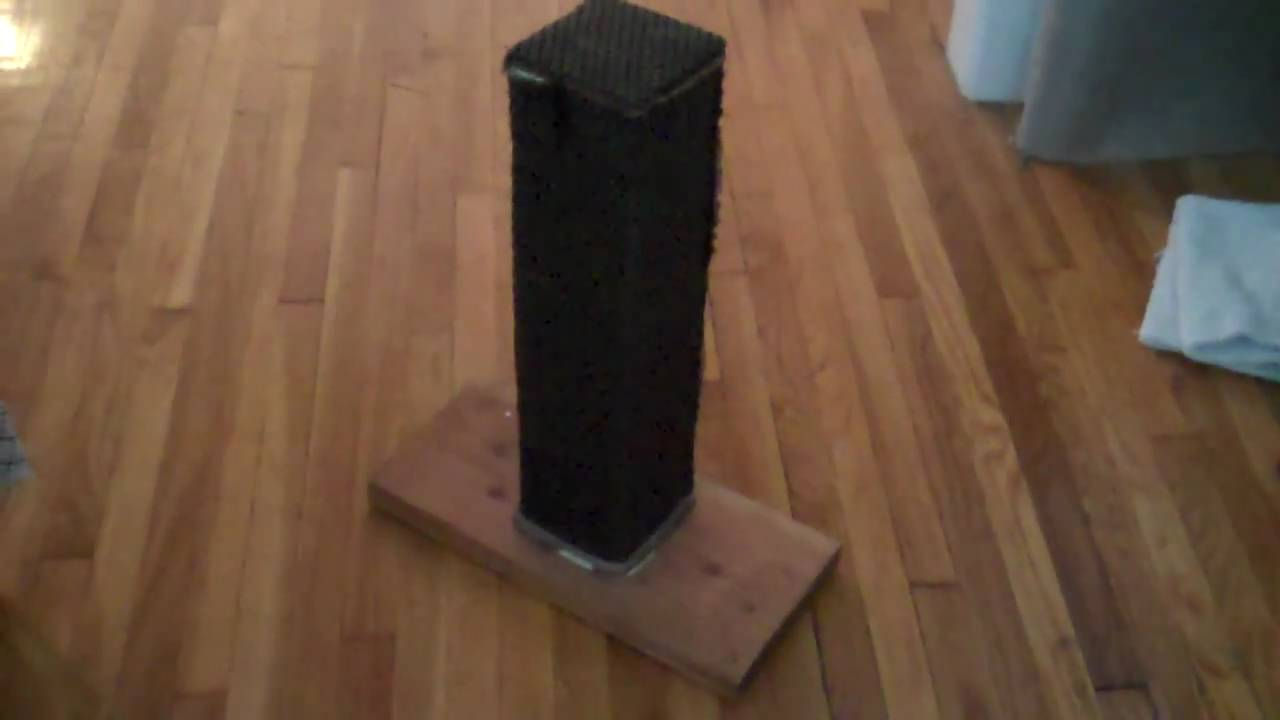 Homemade Cat House Plans as well 16 Fun Things To Make For Your Pets together with Diy Cat Scratching Post furthermore Pdf Diy Homemade Cat House Plans Download Homemade Cat Tree Plans furthermore Homemade Cardboard Furniture Plans. on homemade cat scratching post