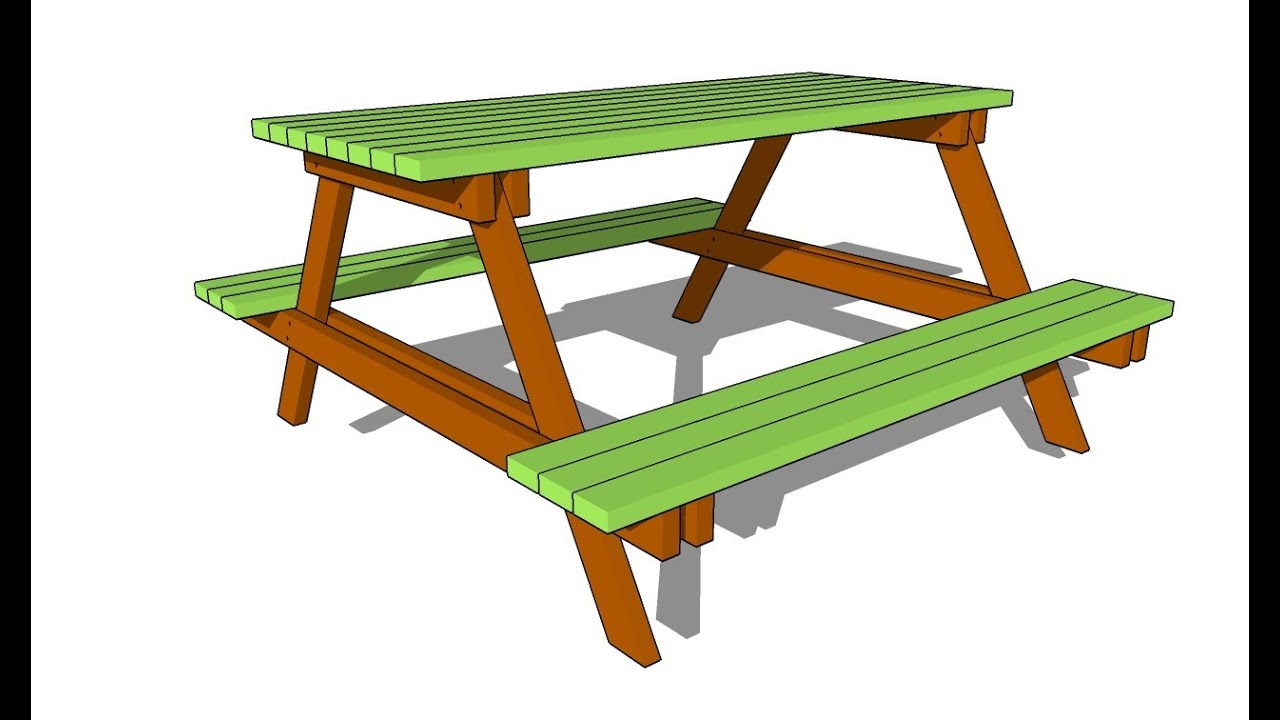 Picnic table plans free - YouTube