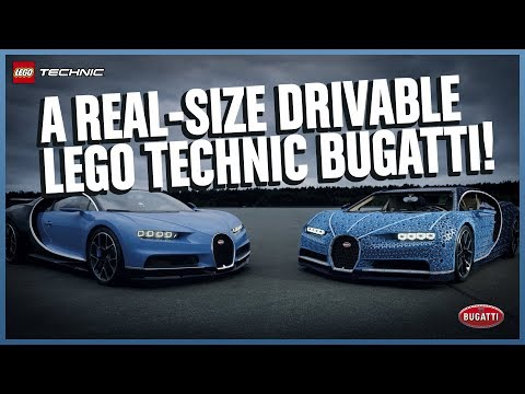Lego built a Bugatti Chiron in 1:1 scale that WORKS.