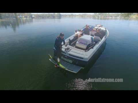 Drone waterski video from 11-05-16 v2 by AerialExtreme.com