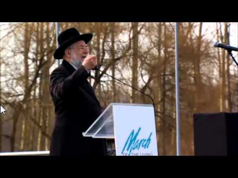 Rabbi Lau Speaks at the March of the Living 2013