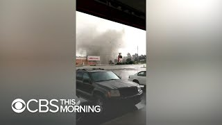 Powerful tornado rips through South Bend, Indiana