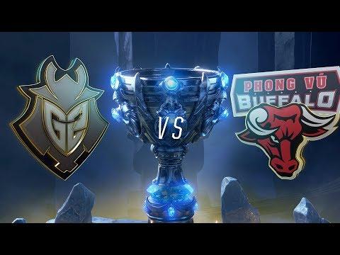 G2 vs PVB | Worlds Group Stage Day 6 | G2 Esports vs Phong Vũ Buffalo (2018)