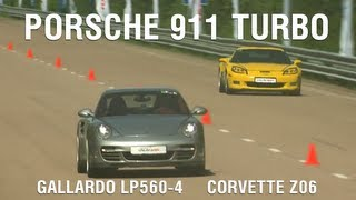 Porsche 911 Turbo (Stock) Vs Lamborghini Gallardo LP560