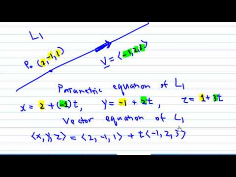 Parametric Equation of a line