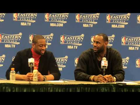LeBron James and Dwyane Wade speak after Miami Heat's Game 5 loss to Pacers