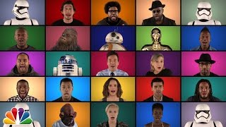 "Jimmy Fallon, The Roots & ""Star Wars: The Force Awakens"" Cast Sing ""Star Wars"" Medley"