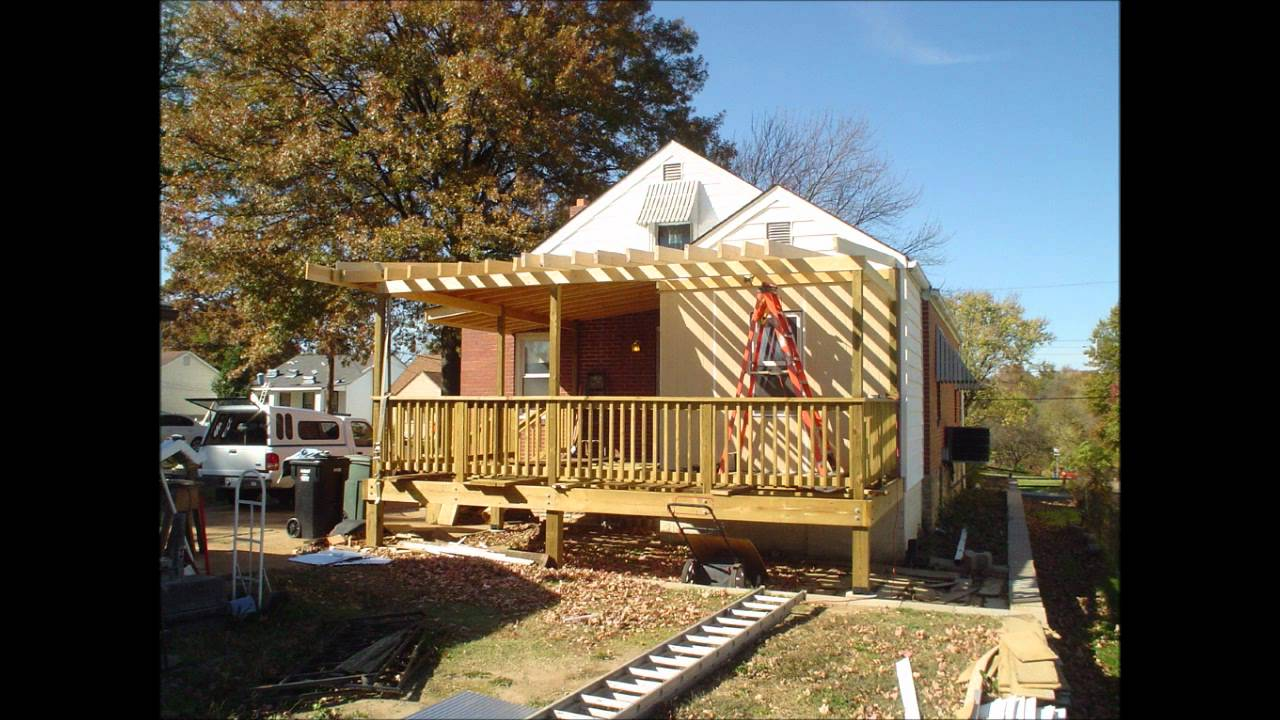 New Deck Roof Construction - YouTube