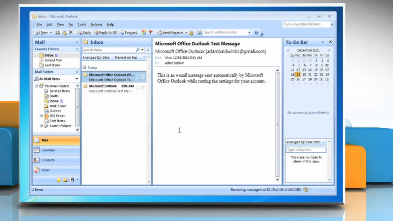 How to setup multiple email accounts in outlook 2007 on a for Acc email
