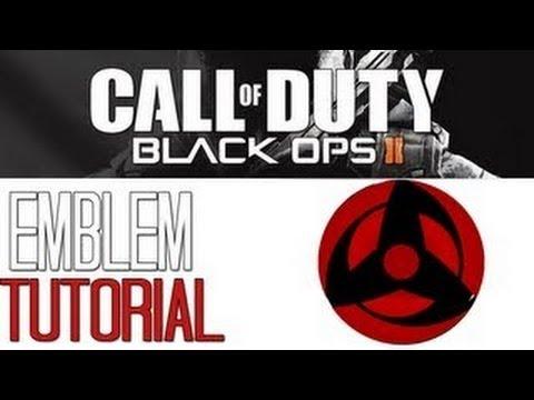♦ Black Ops II  - BEST KAKASHI'S MANGEKYOU SHARINGAN - Emblem Tutorial
