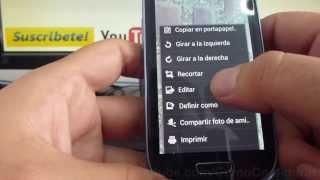 Como Editar Fotos Celular En Samsung Galaxy S3 Mini I8190