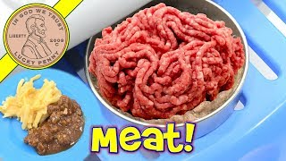 Can A Real Meal Easy Bake Oven Cook Raw Meat? Macaroni & Cheese - Sloppy Joe Dinner