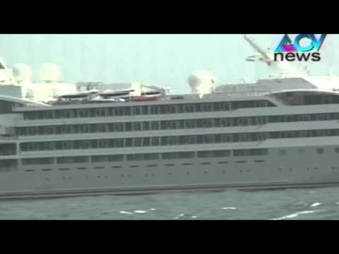 Luxury ship at Vizhinjam harbour draws crowd
