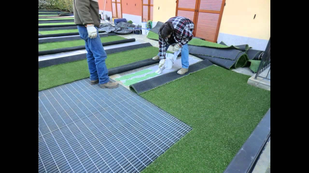 Come posare erba sintetica finta e prato artificiale for Siepe finta per terrazzo
