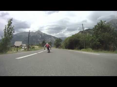 Andrew Chapman- French Alps longboarding, cliffs and drifts.