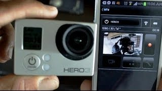 GoPro Hero3 Sincronização Wifi & GoPro APP Review