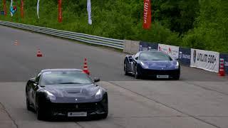 Ferrari 488 GTB vs. Ferrari F12 Berlinetta. DragTimes info video - Драгтаймс инфо видео.