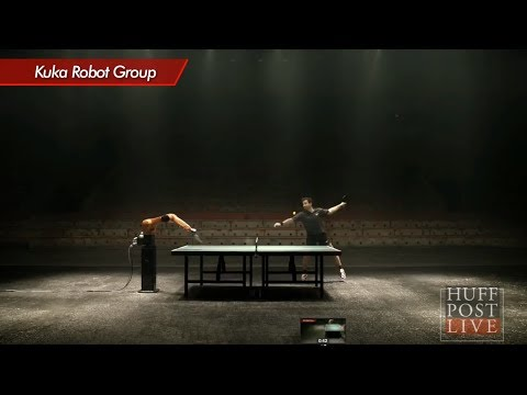 World's First Human/Robot Ping-Pong Match