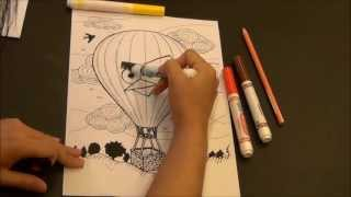 [Hot Air Balloon colAR Mix coloring page]