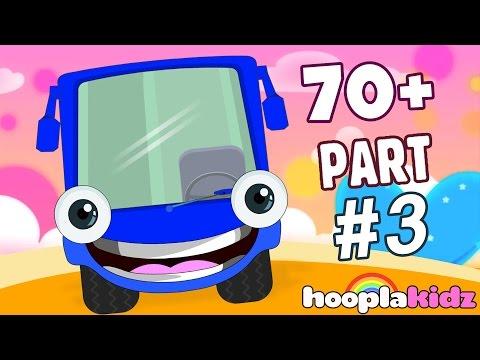 Wheels On The Bus | Part 3 | Plus More Nursery Rhymes And Songs by HooplaKidz | 70 + Mins