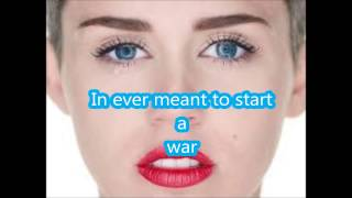 Miley Cyrus- Wreking Ball Lyrics