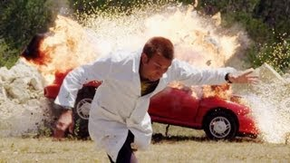 The Slow Mo Guys Blow Up a Car Full of Money