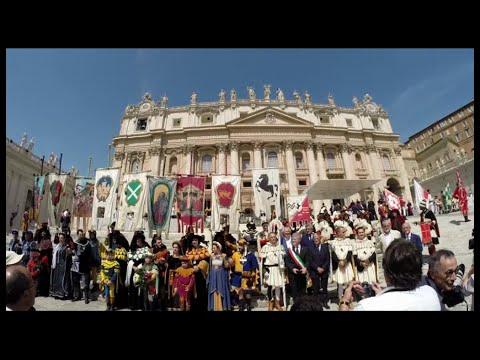 Arezzo e la Giostra in Vaticano - Il racconto della giornata