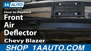 How To Replace Install Front Air Deflector 1992-00 Chevy