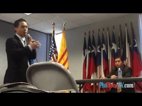 Nghị viên Hoàng Duy Hùng họp báo tường trình và trả lời về chuyến đi Việt Nam (2)