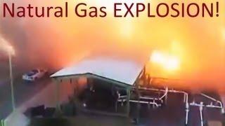 SLOW MOTION Massive Explosion Natural Gas Plant