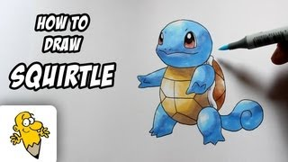 How To Draw Squirtle [Pokemon] Drawing Tutorial