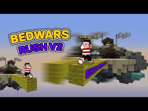 CHẾ ĐỘ ĐẶT BLOCK NHƯ HACK TRONG BEDWARS RUSH V2 !!* BEDWARS FUNNY (Minecraft)