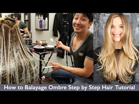 How to Balayage Ombre Step by Step Hair Painting Channel Boris Soler