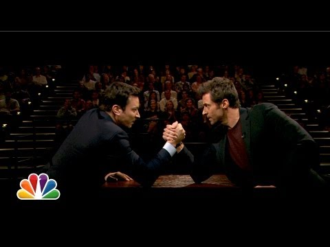 Jimmy Fallon and Hugh Jackman Arm Wrestle