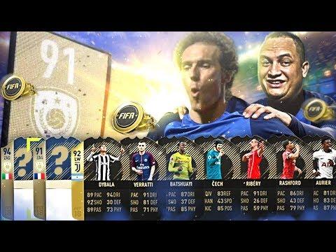 TIREI 2 ICONS NAS RECOMPENSAS TOP 100 DO FUT CHAMPIONS FIFA 18