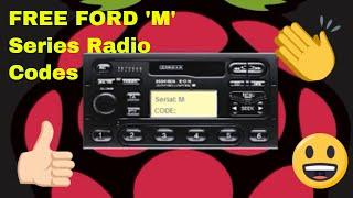 FREE FORD M SERIES RADIO CODES