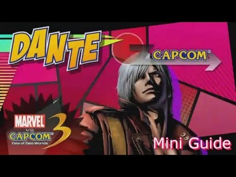 Ultimate Marvel VS Capcom 3 (UMVC3) VERGIL, DANTE 'Sons of Sparda' Tutorial Mini Guide [HD]