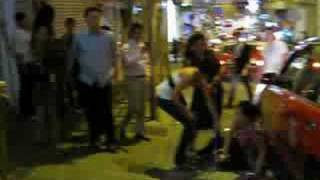 Lan Kwai Fong Fight Angry Girl Gets Pushed And Cries