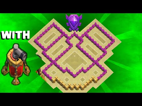 Clash of Clans - th6 War base / trophy base / Anti giants / Anti balloon / With air sweeper