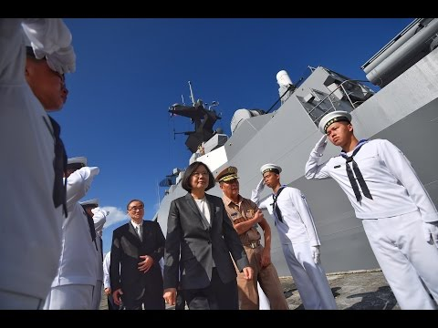 President Tsai addresses troops at Naval Fleet Command