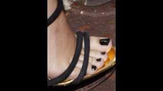 Kylie Minogue Feet & Legs (Close-Up)