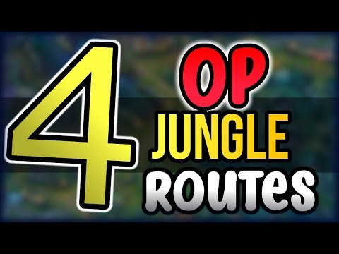OP JUNGLE ROUTES FOR CARRYING! - 4 Core Jungle Routes Season 8 League of Legends Jungle Route Guide