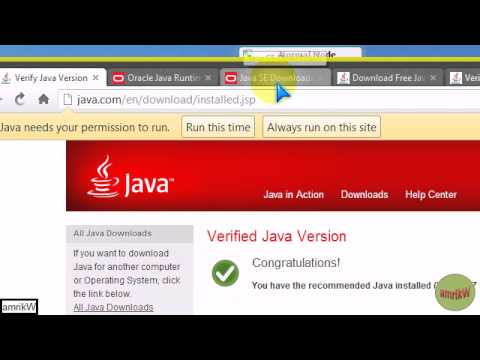 How I installed Java on Windows 7 (32-bit) - YouTube