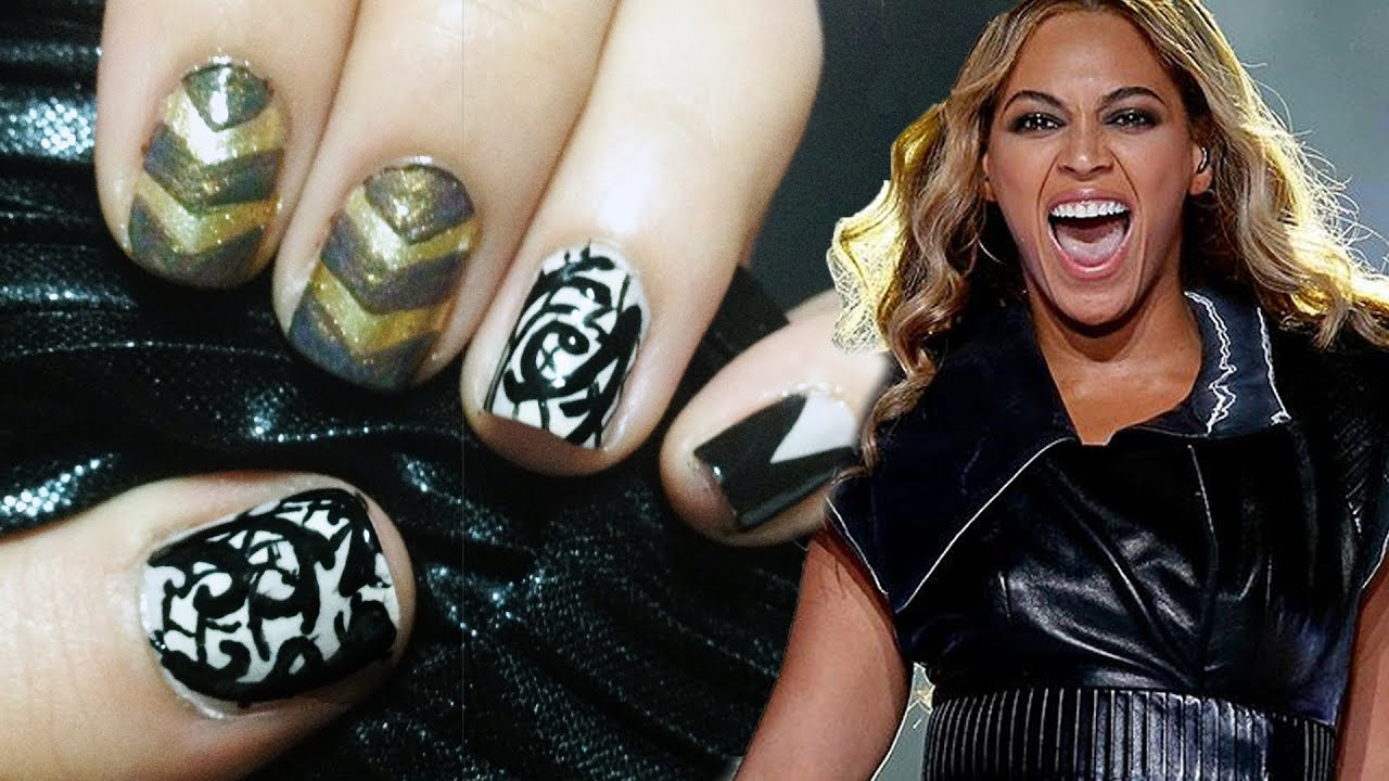 beyonce super bowl 2013 inspired nails youtube